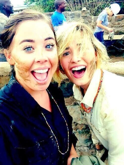 Demi and marissa in Africa