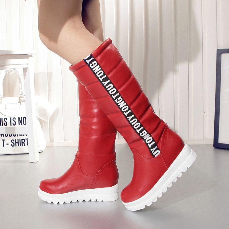 Winter Damens Schuhes Knee Elevator high Stiefel Female Elevator Knee Flat Thermal 2f7899