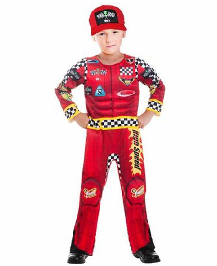 details about race car driver costume child s m kids halloween dress up nascar auto racer
