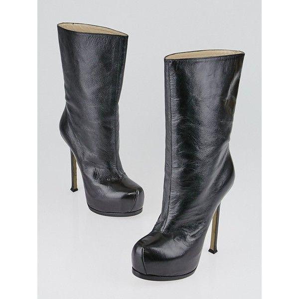 Yves Saint Laurent Patent Leather Knee-High Boots buy cheap huge surprise discount genuine doVNLz6DbV