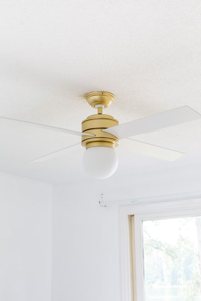 It Is Hot Stay Cool With Something Pretty Gold And White Modern Ceiling Fan Ceiling Fan With Light Ceiling Fan Bedroom