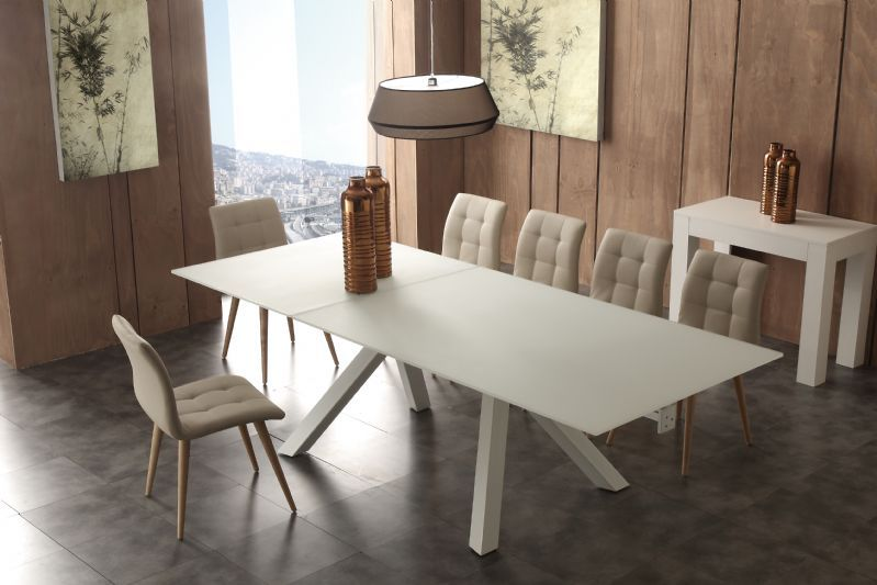 Tavolo Aliante 652 tavoli cristallo allungabili - tavoli | Un AMORE ...