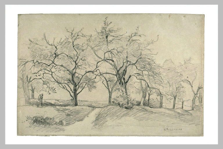 Camille pissarro paysage d 39 hiver impressionists and - Camille dessin ...