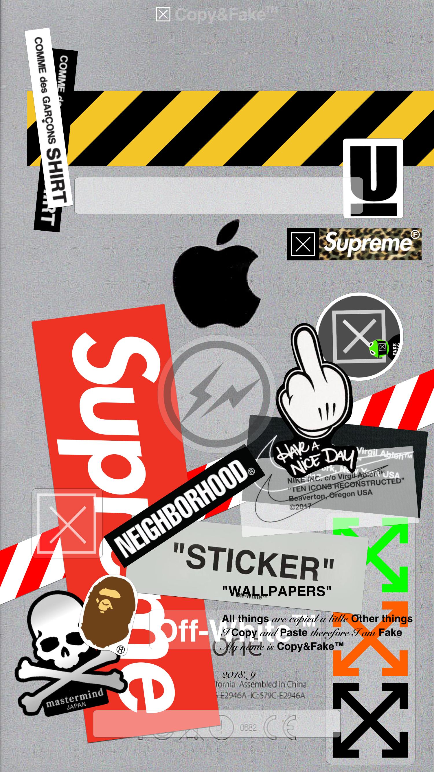 Copy Fake Custom Stickers Wallpaper Stickers Kit Instagram