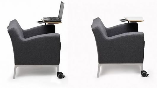Bretfords multipurpose Plus Tablet Arm Chair with laptop surface