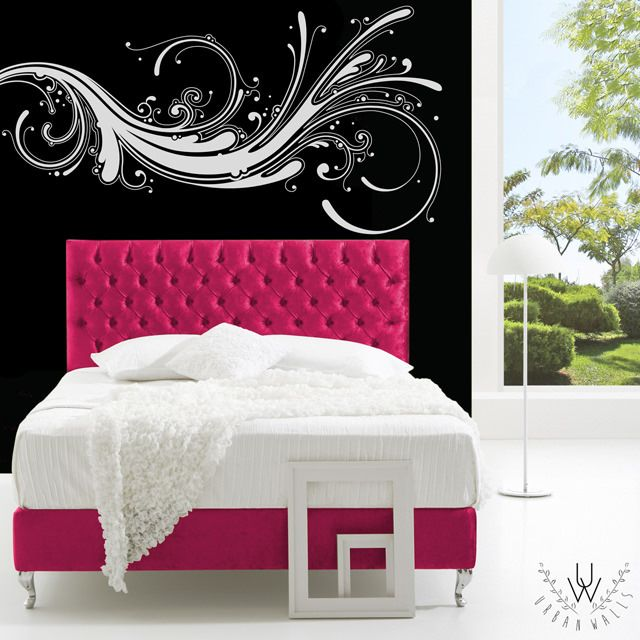 Modern Swirl Wall Decal | Modern Swirl Wall Sticker ...