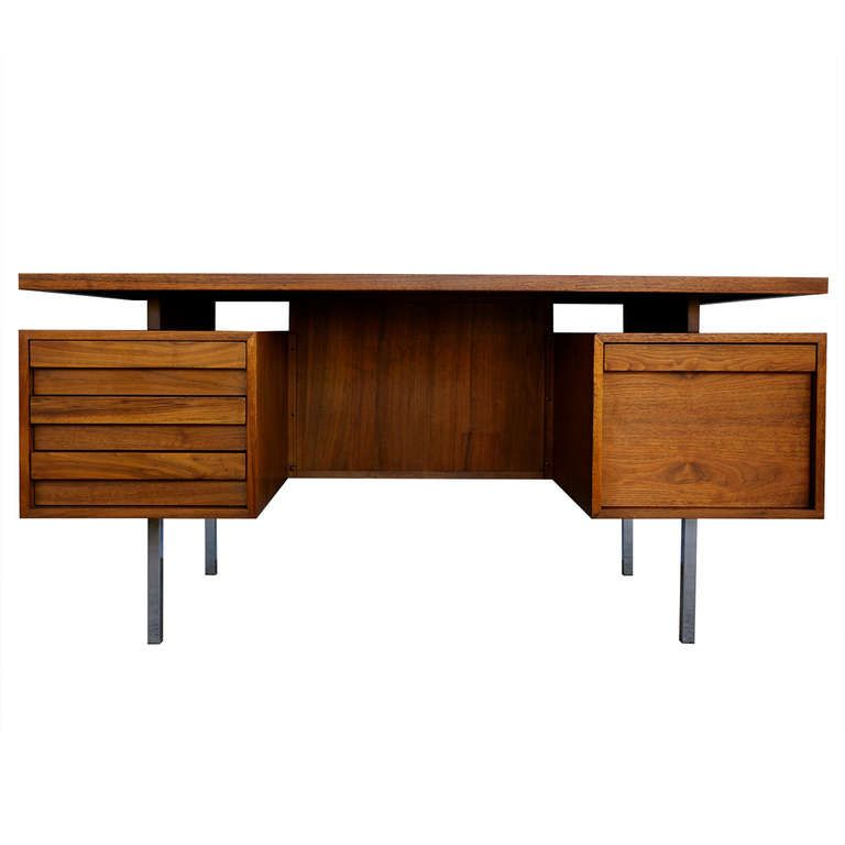 Walnut Executive Desk By John Keal Desk Modern Design Executive