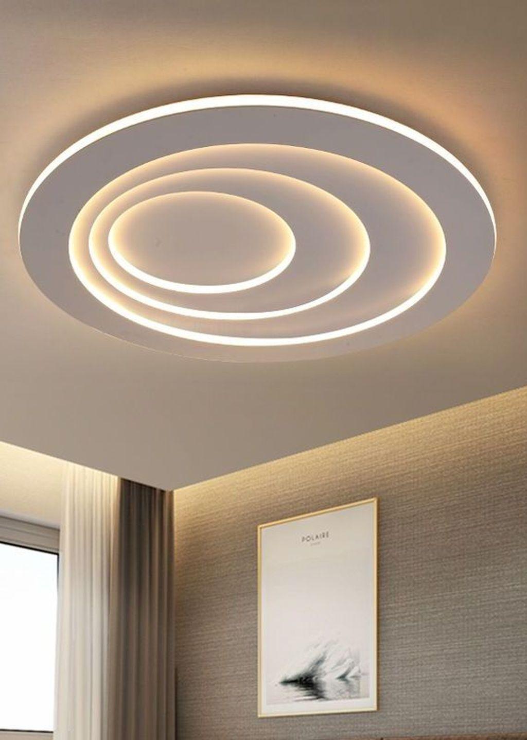 35 Surprising Living Room Design Ideas With Ceiling Light To Have Decoration Plafond Deco Plafond Idees De Plafond