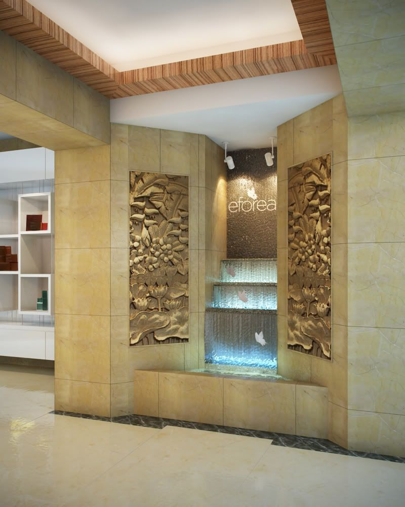 interior living room beautiful beige color wall modern - Interior Wall Water Fountains