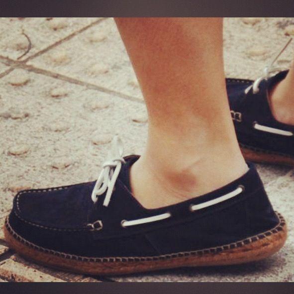When preppy deck shoes meet espadrilles trend. That is ...