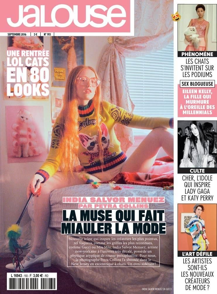 Jalouse, September 2016. Cover by Petra Collins.