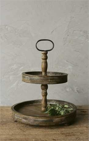 Two Tier Rustic Wood Tray Http Vintage23market Com