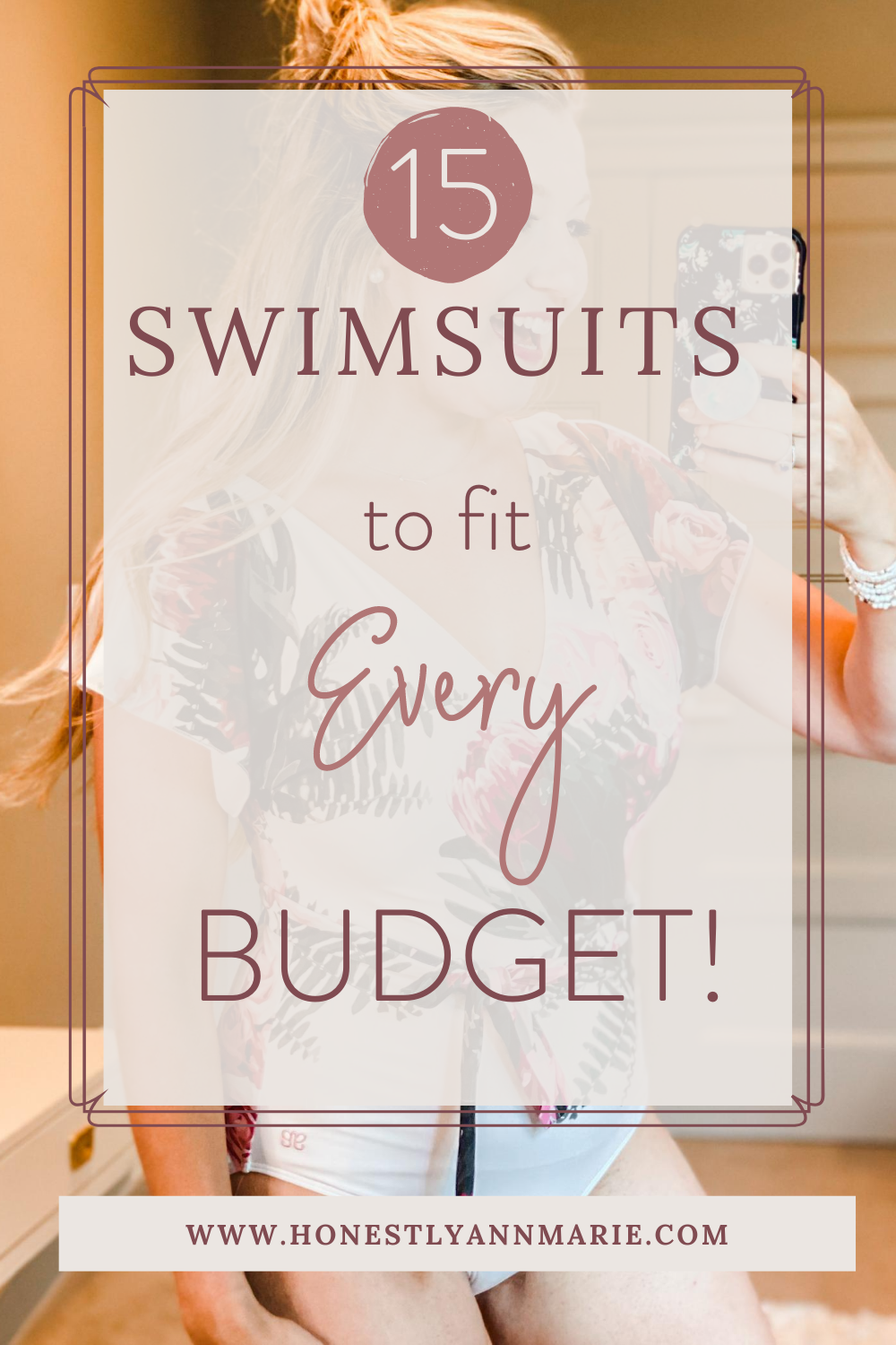 "For so long, I've been putting off swimsuit shopping after having my kids, in hopes that I would one day wake up and realize that my body was ""back to normal."" And then one day I woke up and decided that it didn't need to be. So today, I'm trying on 15 (yes, 15!) swimsuits in all different budget categories - I know you'll find something you love! swimwear, swimsuit, swim style, best bathing suits, best bathing suits for mamas"
