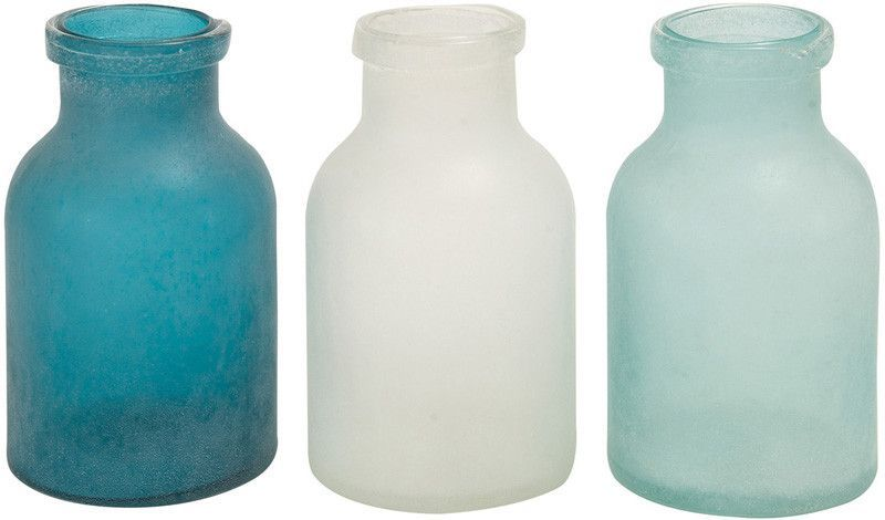 Benzara 67463 The Smooth Glass Vase 3 Assorted Products