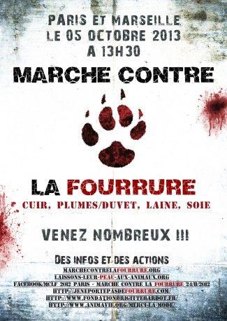 FOURRURE : MANIFESTATIONS LE 5 OCTOBRE À PARIS ET MARSEILLE