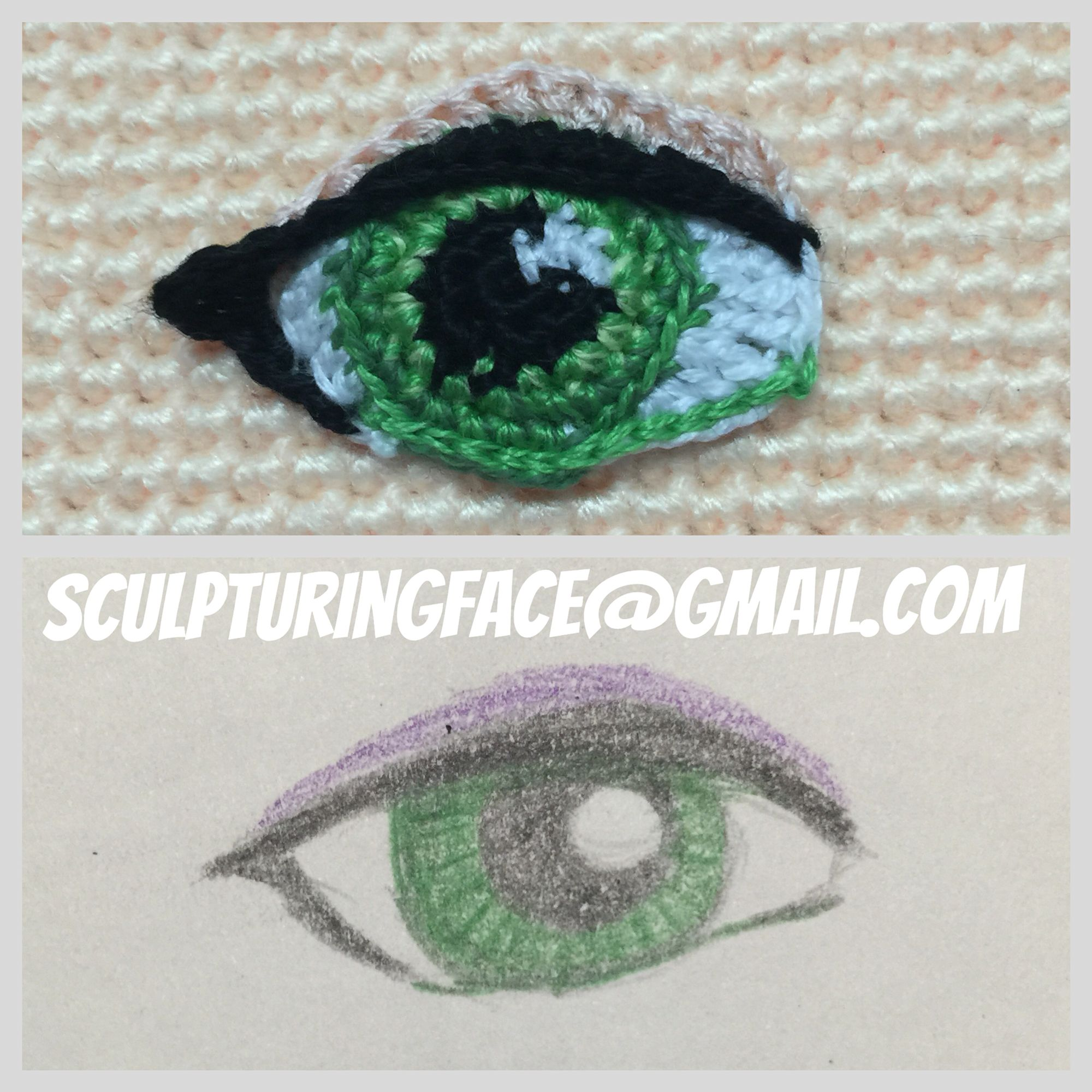 Amigurumi Eyelashes : My crocheted Amigurumi eye by Sculpturingface@gmail.com ...