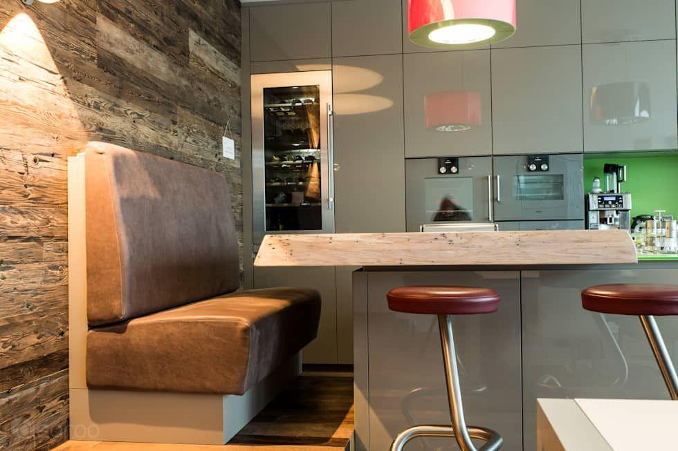 Moderne Küche Bilder Sitzbank mit Hocker - küche mit bar