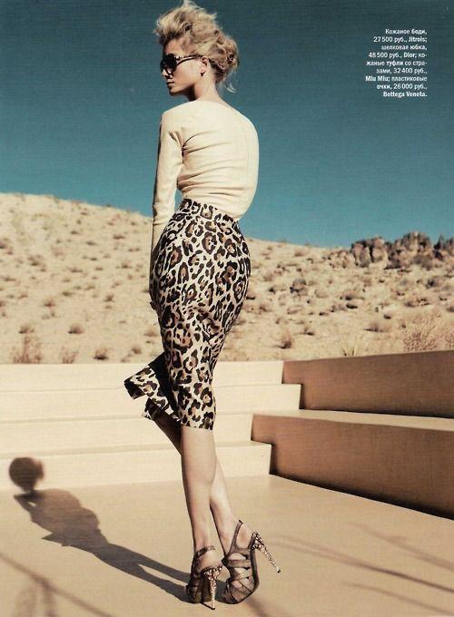 ♥ leopard pencil skirt