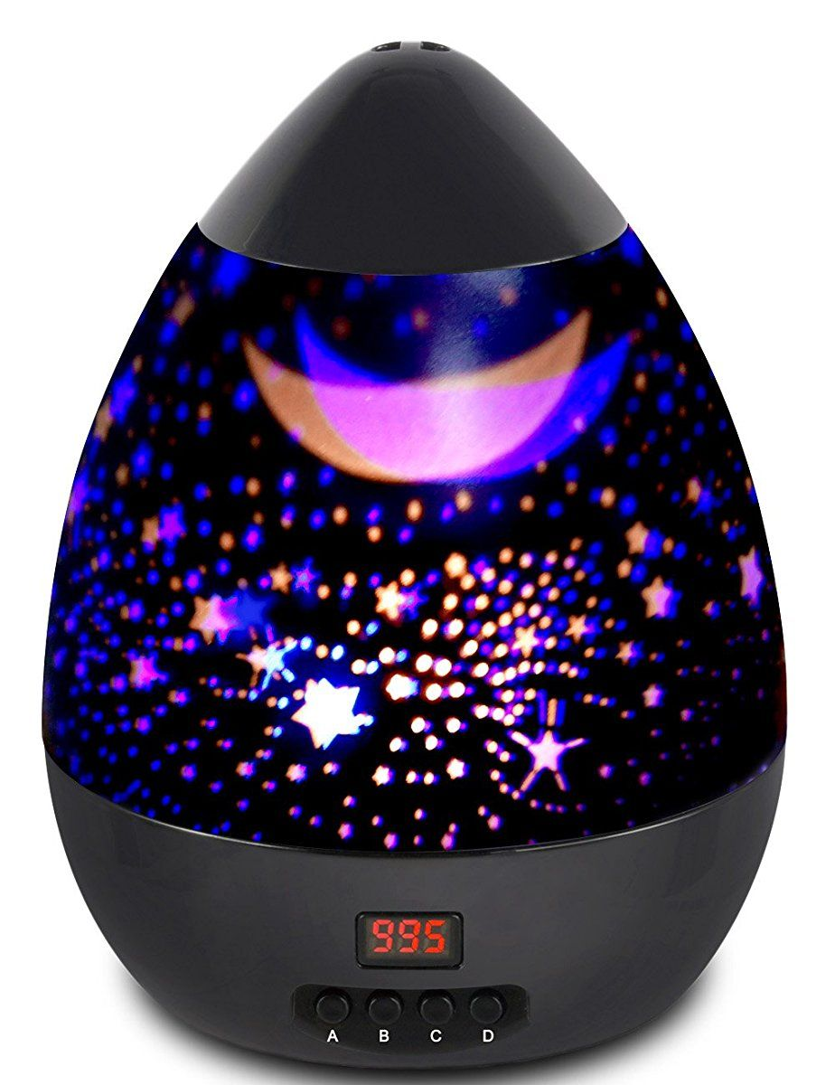 Night Light Star Moon Projection Lamp Star Light Projector 360 Degree Rotating With Timer Auto Shut Off For Kids Bedroom 4 Led Bulbs With Multiple Colors Black Star Projector Light Baby Night Light Projector