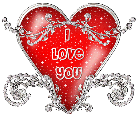 i love you - decorated heart | decorating and messages