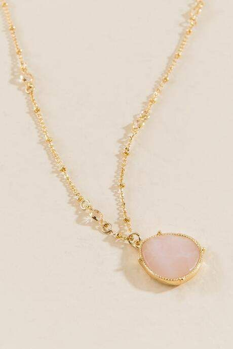 5dbd3b3b46f678 Caroline Rose Quartz Pendant - Pale Pink | Products | Caroline rose ...