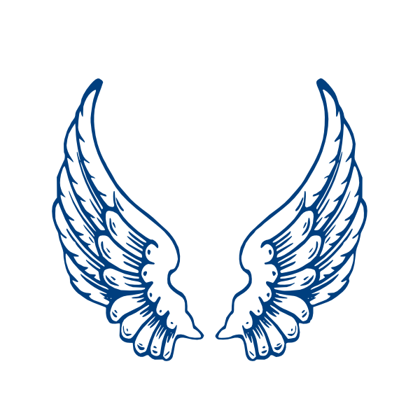 angel wings template | Largeangelwings clip art - vector clip art ...