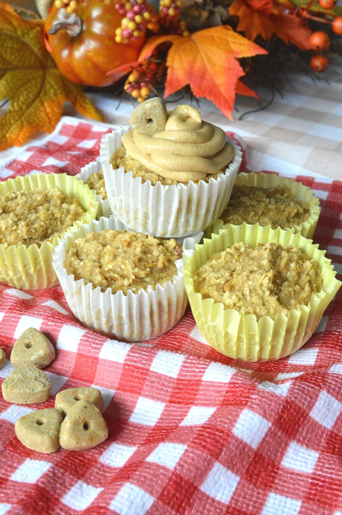 Healthy birthday cupcake recipe for dogs with apple
