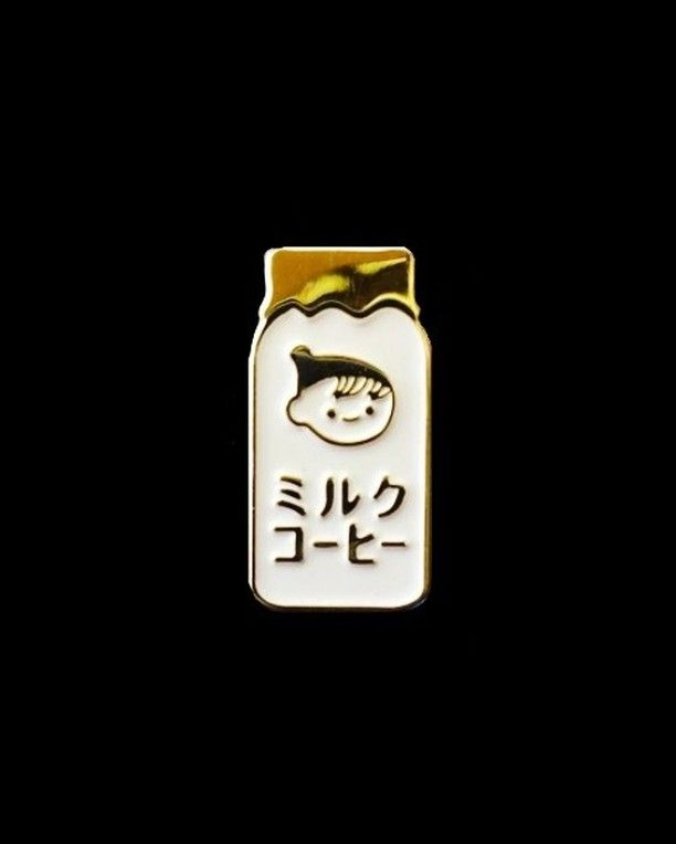Chichiyasu Milk Coffee pin from @zinehug  No vending machine drink is more beloved!  Buy it through their link in bio!