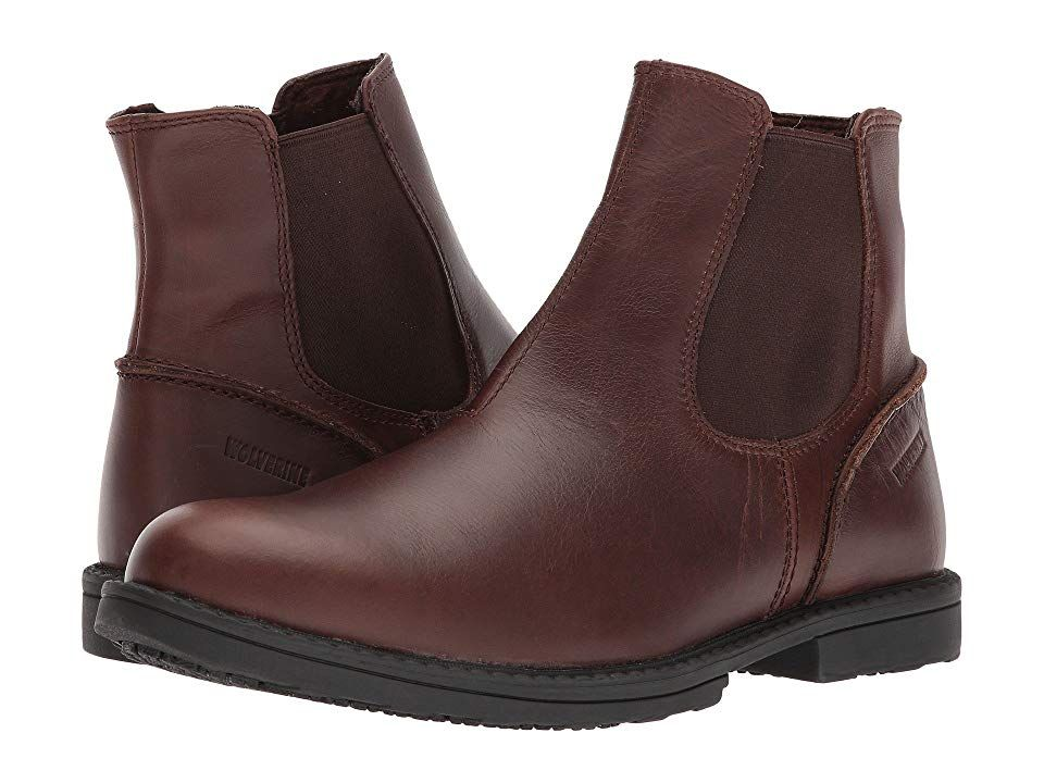 Wolverine Bedford Chelsea Brown Mens Work Boots The handsome leather look of the Wolverine Bedford Chukka complements both jeans and casual pants for everyday wear Premiu...
