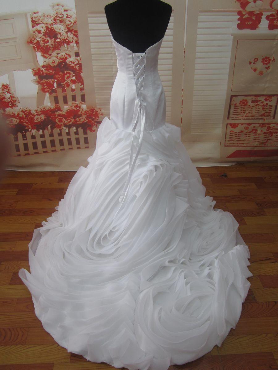 ♥ Unikates Brautkleid mit aufwendiger Schleppe Gr. XS / S 34 36 38 ...
