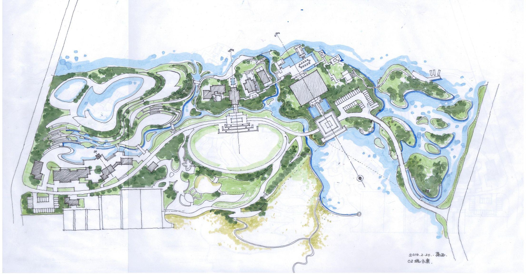 Landscapemasterplan Urban Design Concept Drafting Drawing Master Plan