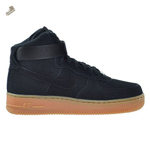 9709a0e34ec49 Nike Air Force 1 HI Suede Women's Shoes Black 749266-001 (11 B(M) US ...
