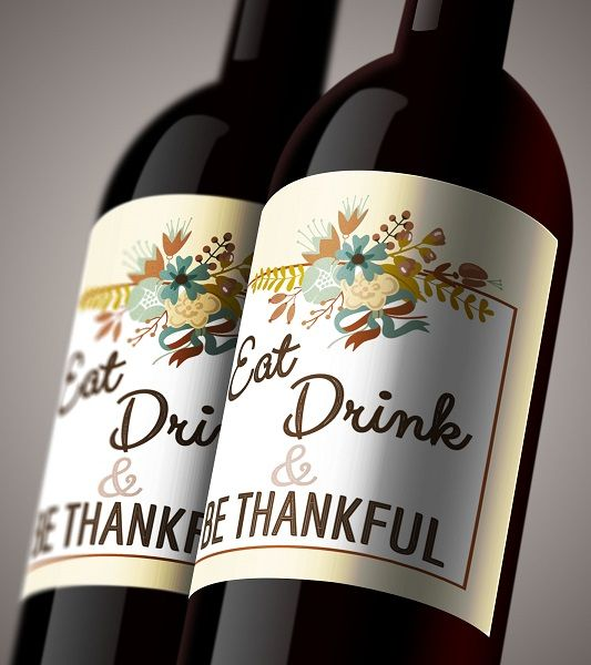 Eat Drink And Be Married Wine Labels Wedding Wine Labels: 'Eat, Drink, & Be Thankful' Free Wine Bottle Label