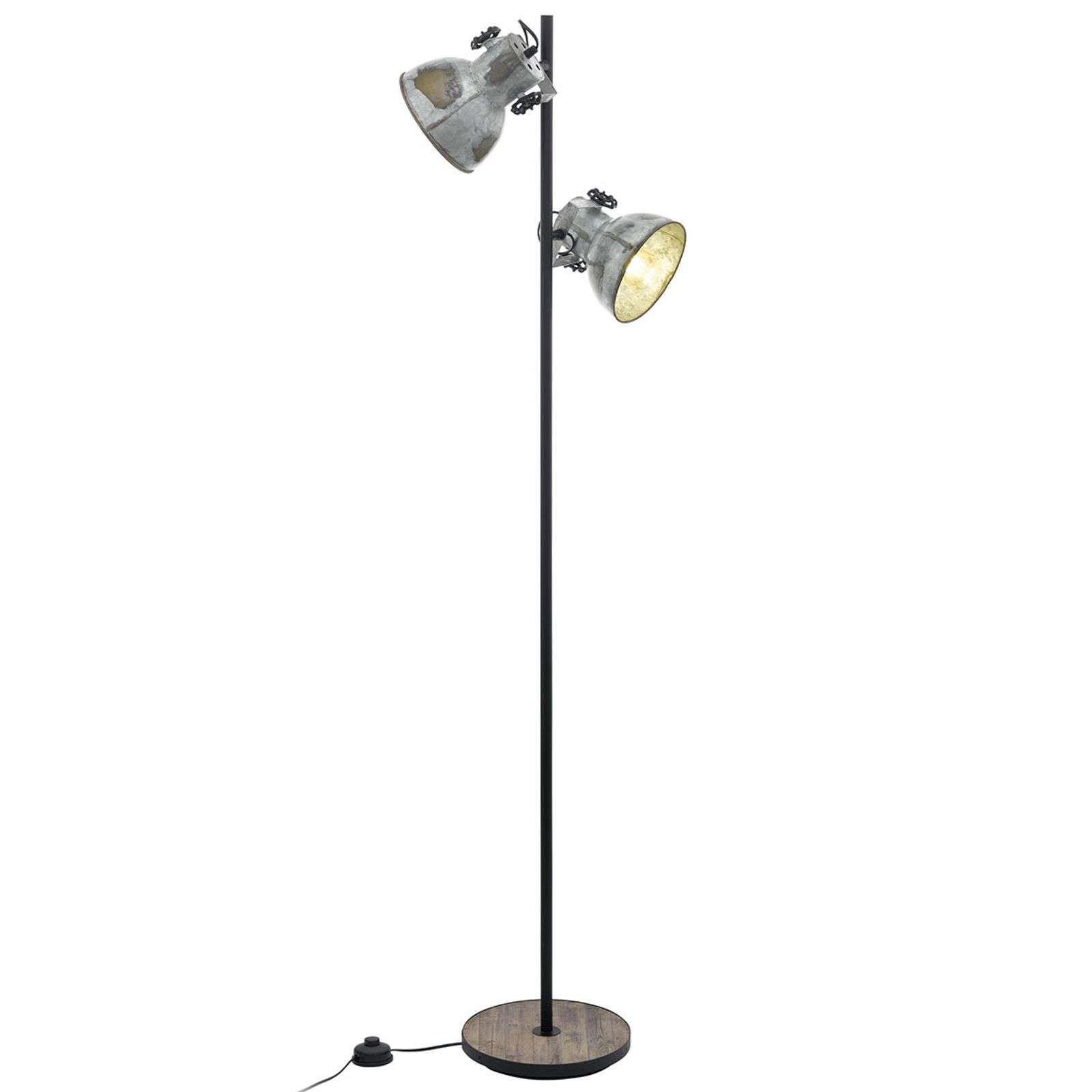 Industrial Stehlampe Barnstaple Von Eglo Schwarz Stehlampe