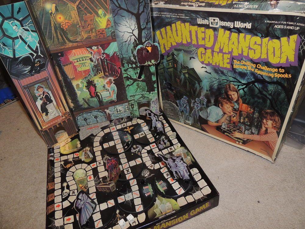 Nice Vintage Walt Disney World Haunted Mansion Board Game Disney World Haunted Mansion Board Games