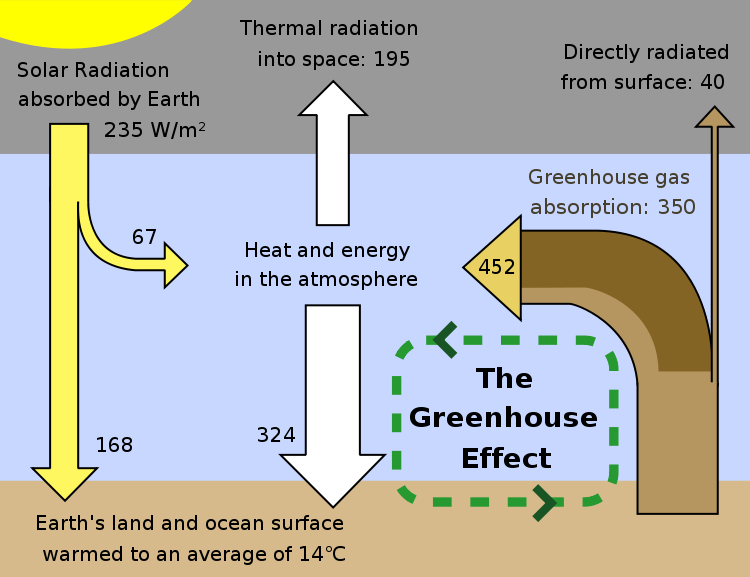 The greenhouse effect is a process by which thermal radiation from a global warming and the greenhouse effect greenhouse effect schematic showing energy flows between space the atmosphere and earths surface ccuart Images