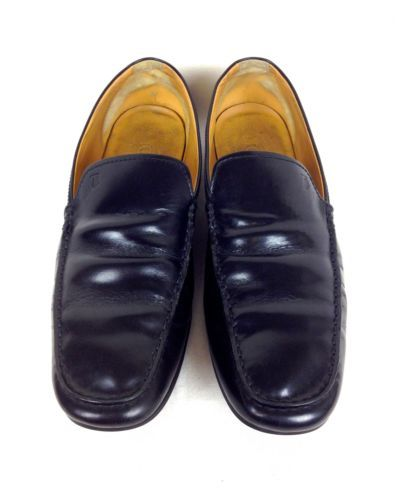 62237e43c62 Leather · Tods Shoes Leather Patent Black Slip on Italy Driving Loafers Mens  ...