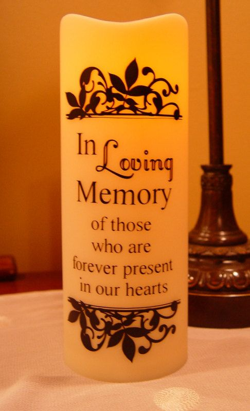In Loving Memory LED Battery Operated Candle - Wedding In Memory ...