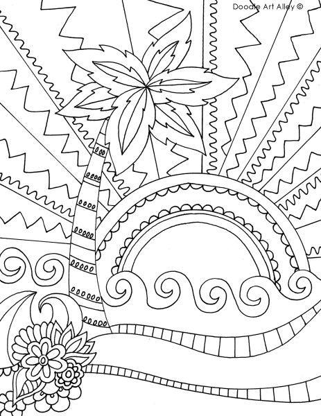 suntreeflowerbeach.jpg | Beach coloring pages, Summer ...