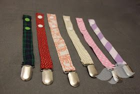 Tales of a Trusty Family: Baby Project: Pacifier Clips