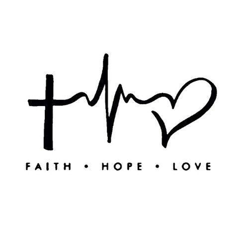 Zeer Geloof hoop en liefde | tattoos | Pinterest - Geloof, Liefde en  &FN62