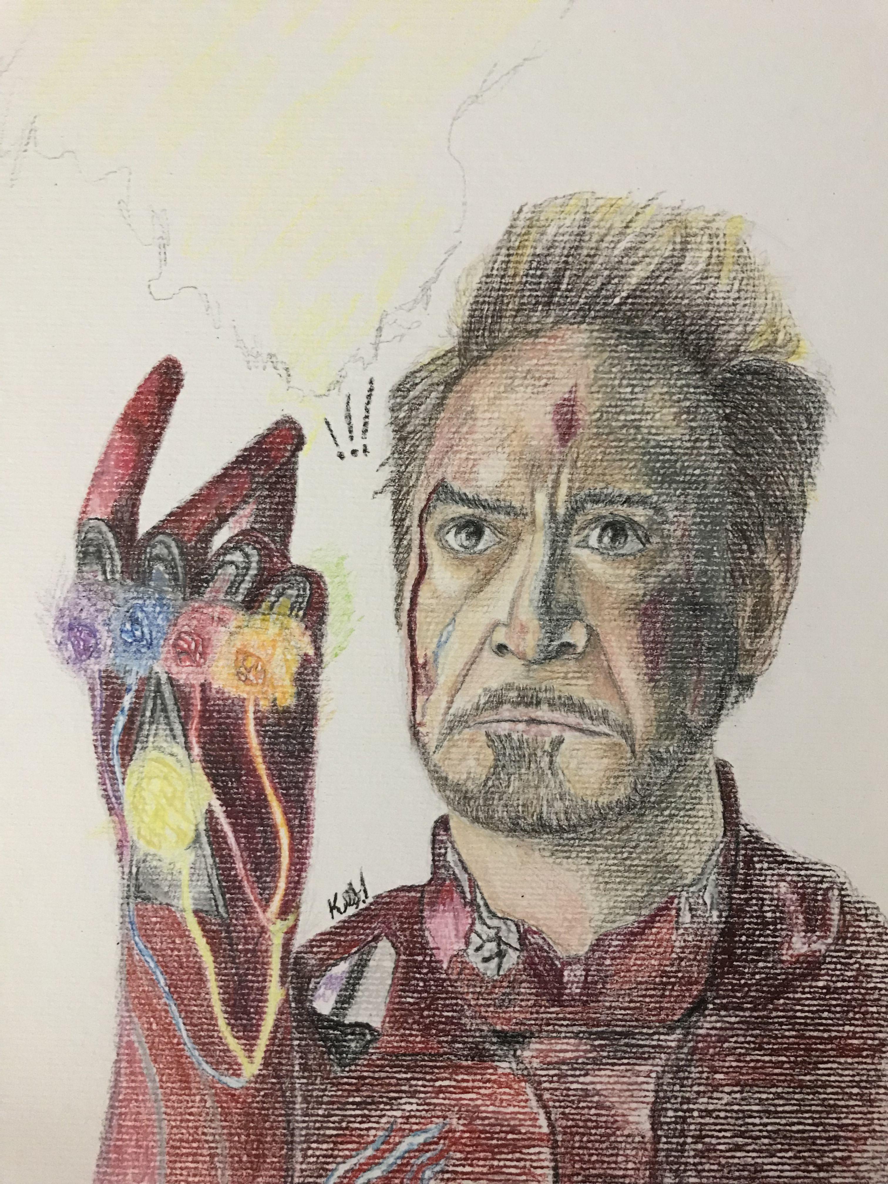 Tony Stark Drawing Desenhos