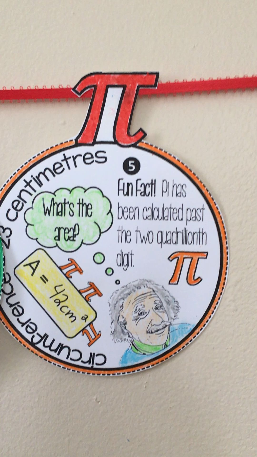 Pi Day math activities! Pi Day math pennants and a Pi Day mobile craft.