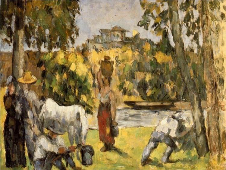 Life in the fields - by Paul Cezanne  #cezanne #paintings #art