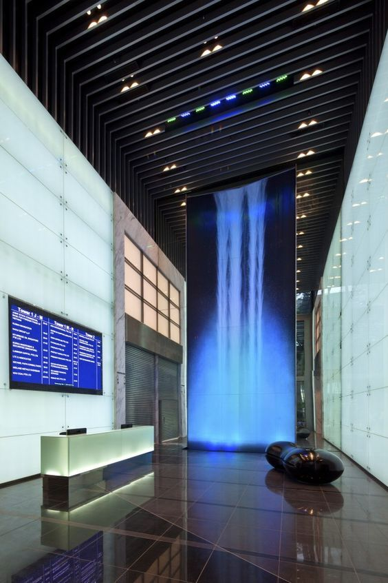 Lobby Of Architectural Designs Buildings Raffles Place Tower