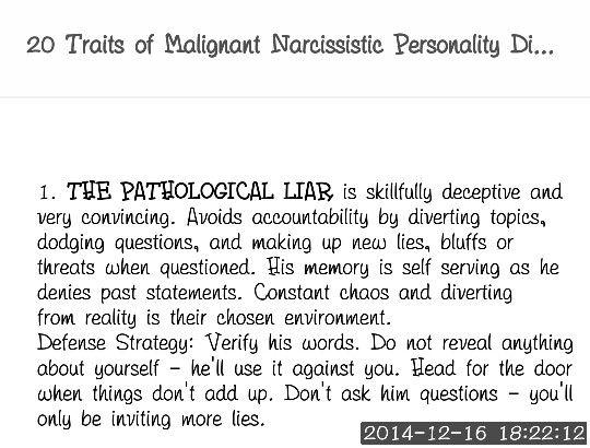 Malignant narcissistic personality disorder