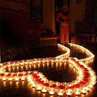 Candle heart romantic dia dos namorados pinterest - Valentines room decoration ideas ...