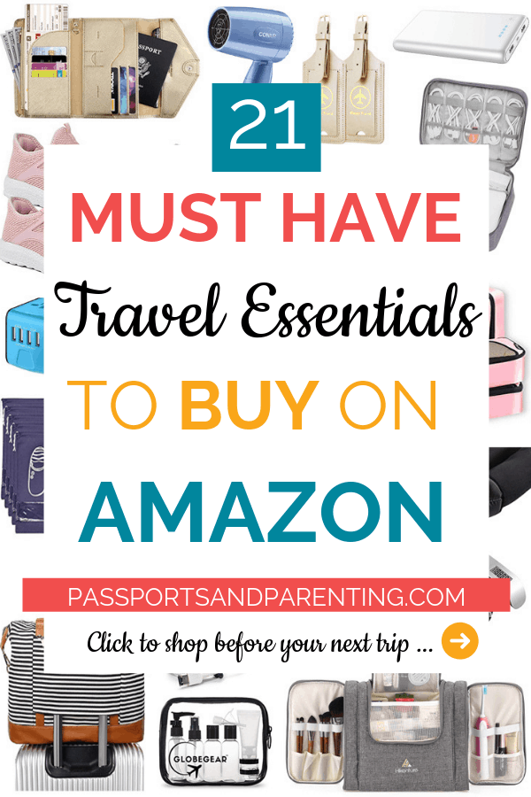 Time to shop for gifts for your favorite travelers. Here are the 21 best and must have travel essentials on Amazon! #travel #traveltips #packing #holiday #travelhacks #holidaytravel #giftideas