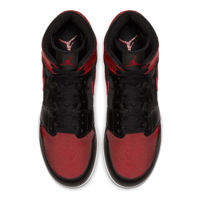 promo code 349d4 4dbdd Nike Men s Jordan 1 TD Mid Cut Football Cleats - Black Red