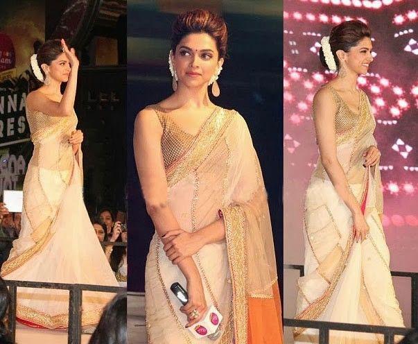 Chennai express saree style dress